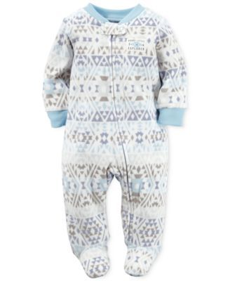 9bd9aee43392 Carter s Baby Boys  Aztec-Print Footed Coverall