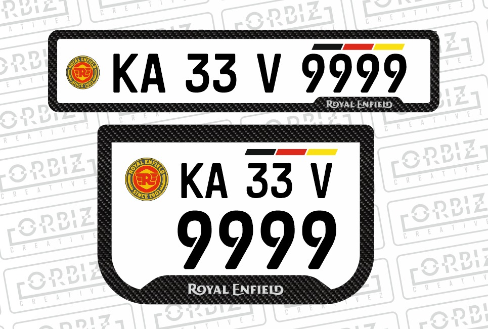 Royal Enfield Bike Number Plate Designs Royal Enfield Royal