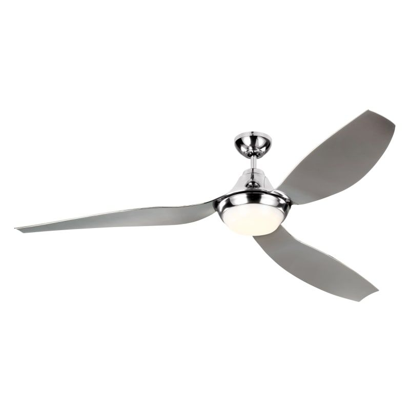 """Monte Carlo 3AVMR64QSD Quicksilver Avvo 3 Blade 64"""" Indoor/Outdoor Ceiling Fan - Light Kit and Remote Included"""