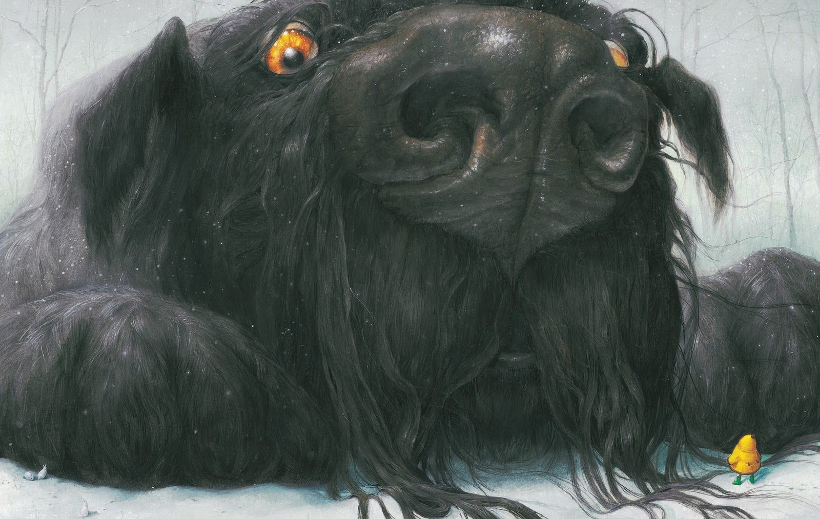 Black Dog by Levi Pinfold I LOVE THIS ILLUSTRATION!