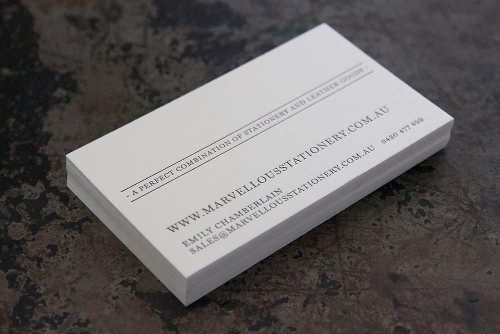 Marvellous stationary business cards printed on a 300gsm crane marvellous stationary business cards printed on a 300gsm crane lettra pearl white cotton stock for gold coastwhite reheart Gallery