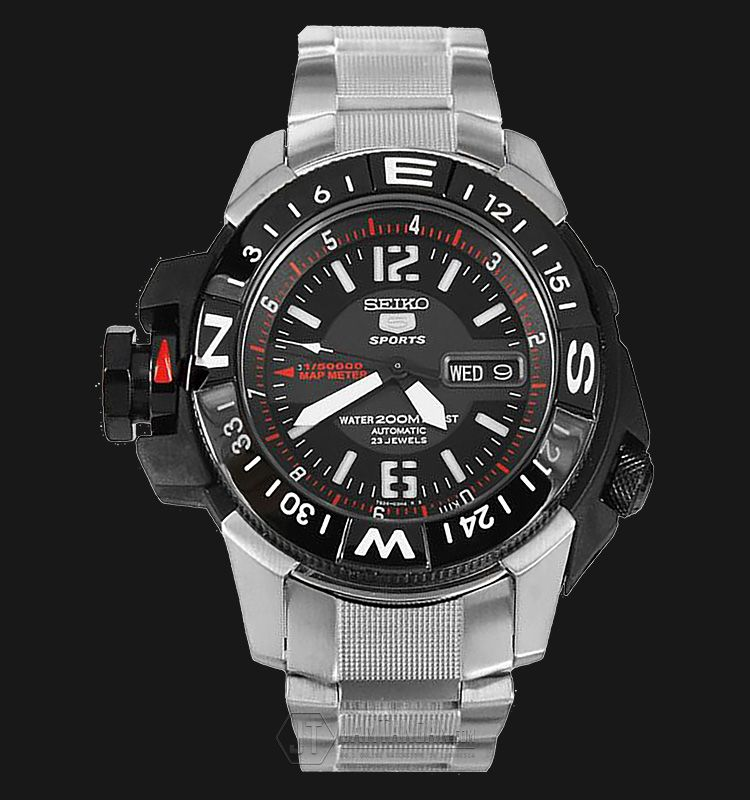 Rm1050 Jam Tangan Seiko 5 Automatic SKZ229K1 Sport Black Dial Stainless Steel 200M