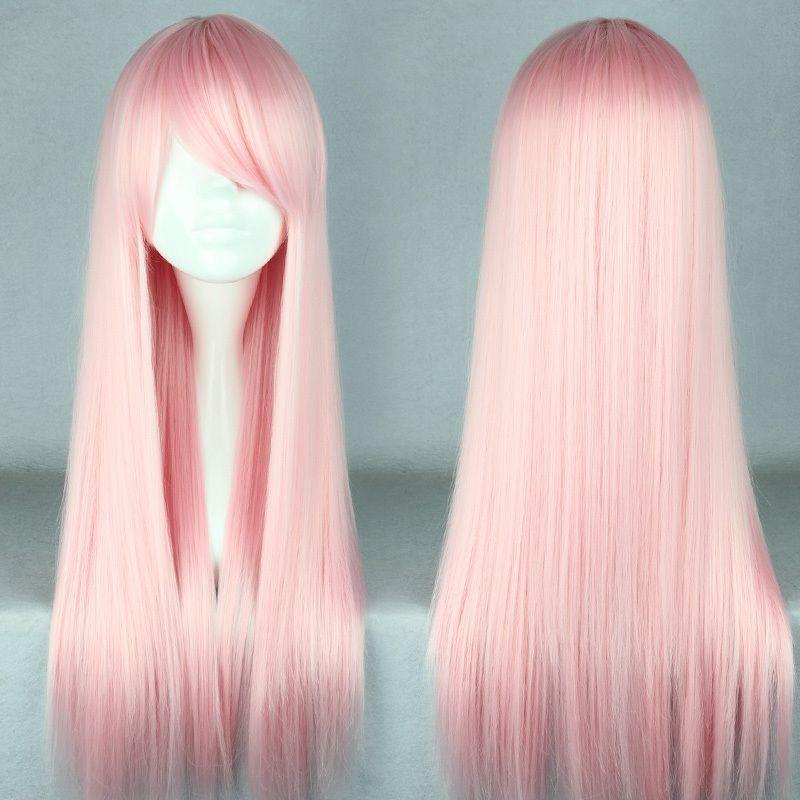 Free shipping 70cm long light pink beautiful lolita wig