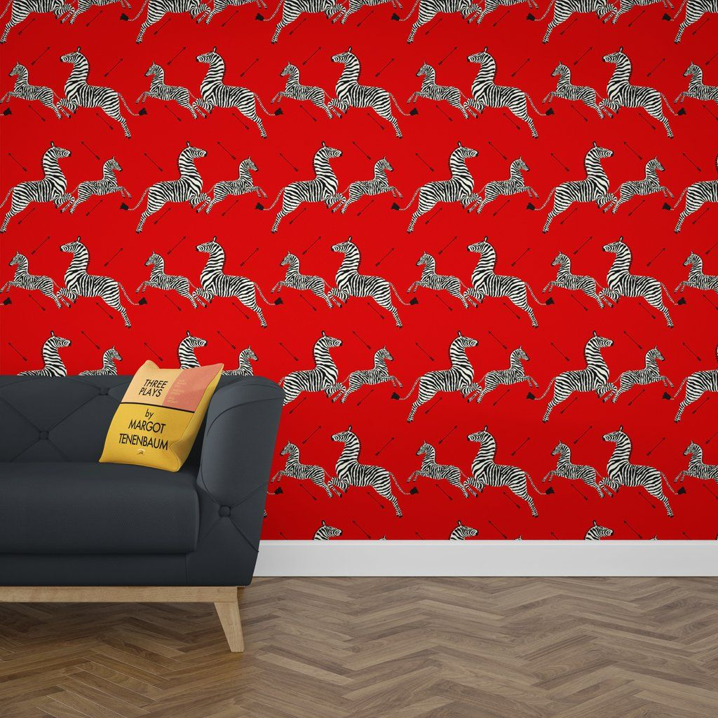 Zebra Masai Scalamandre Wallpaper Royal Tenenbaums