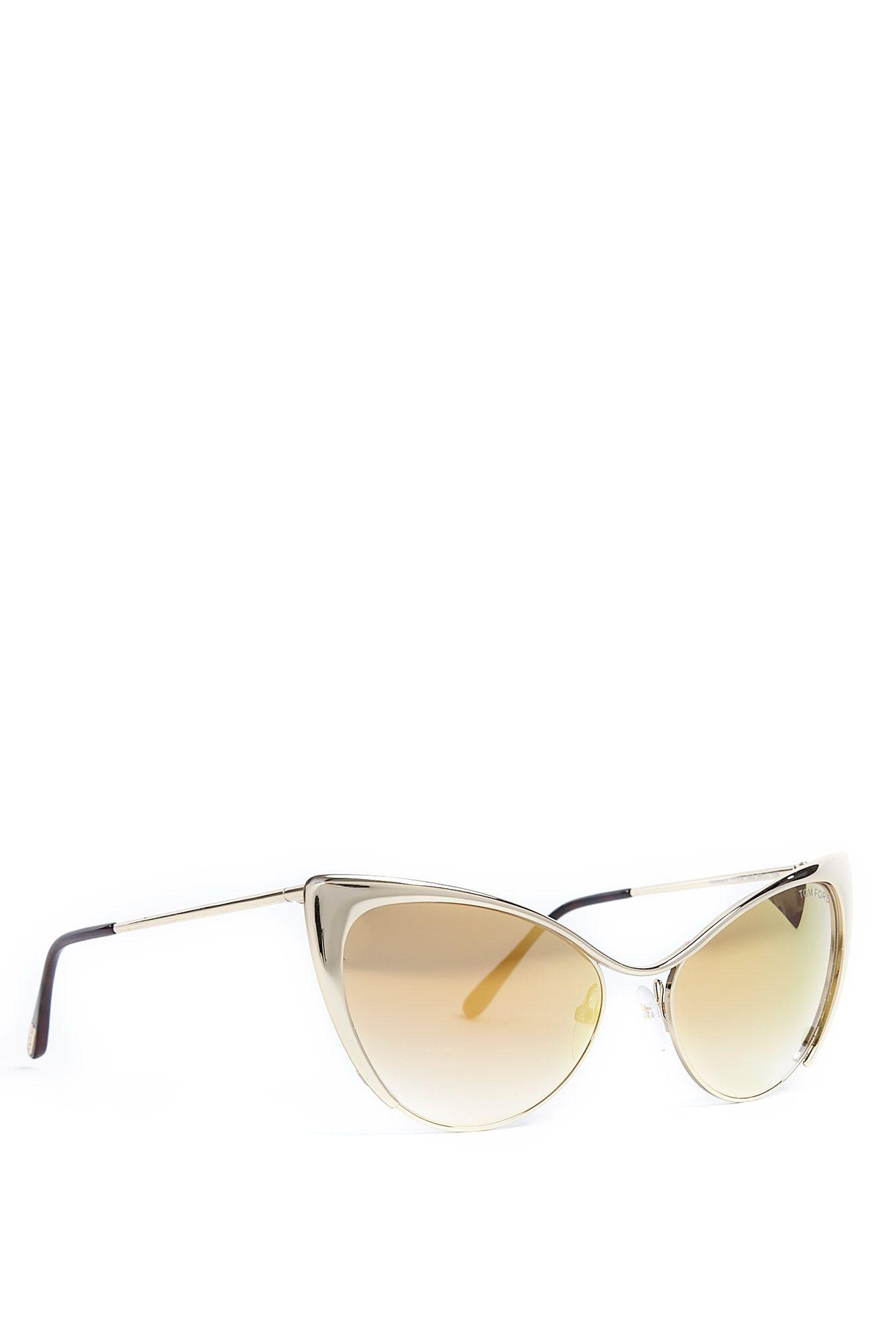 7aeda12abf7 Nastasya Cat Eye Frame Gold Lens Sunglasses by Tom Ford