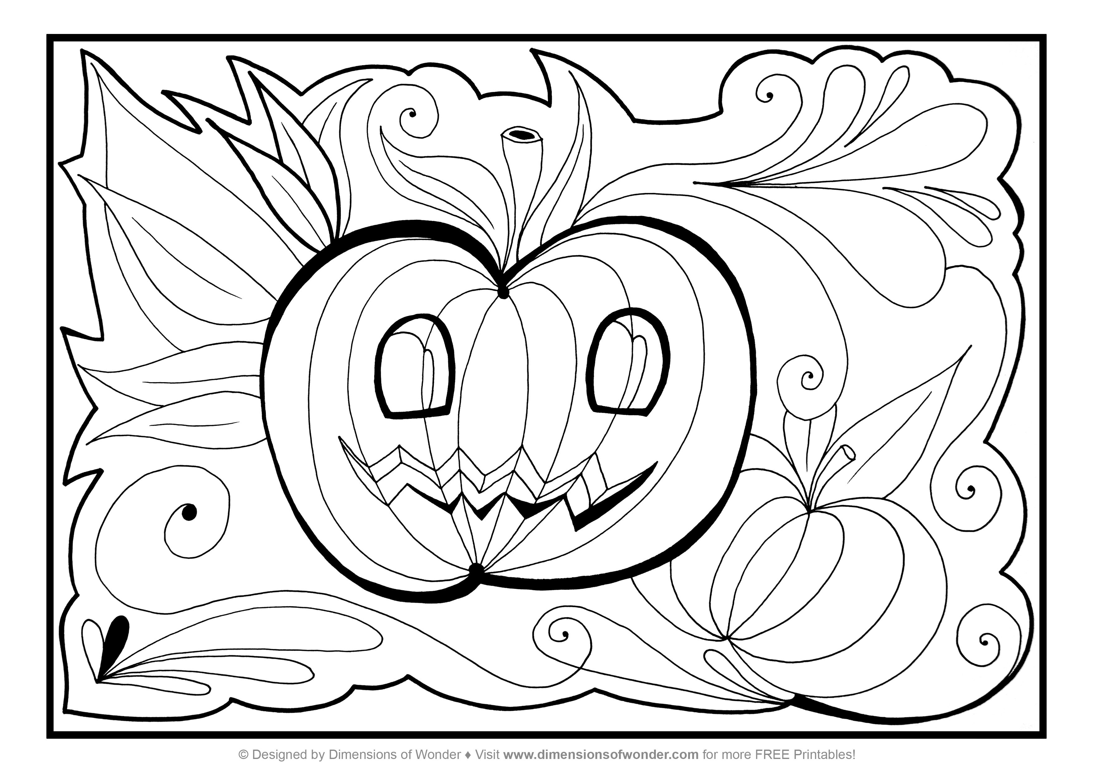 Free Printable Halloween Coloring Pages Suitable For Toddlers And Preschool And Kindergarten