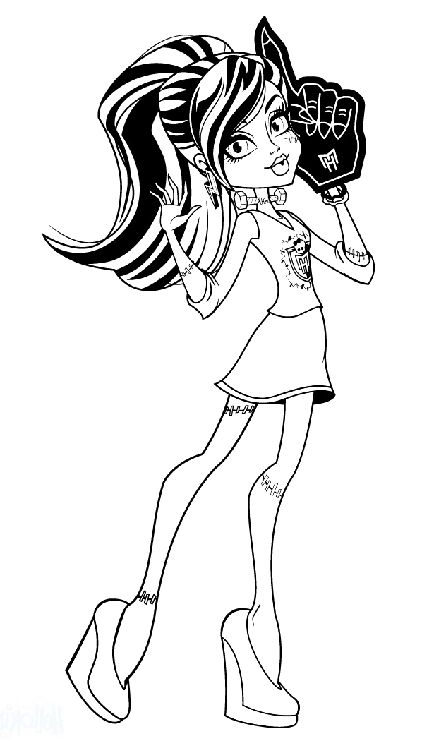 Monster High Frankie Stein Beautiful Coloring Pages - Monster High ...