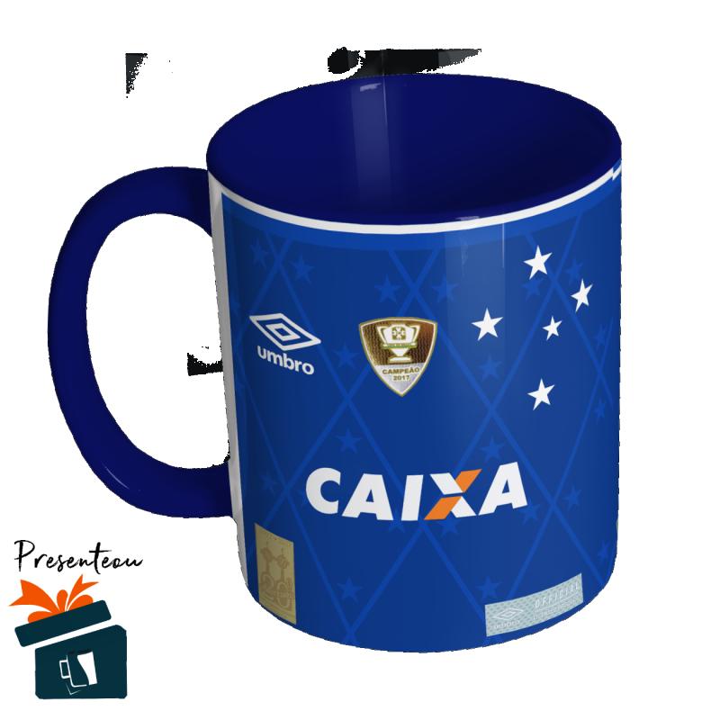 59d1bace1e824 Caneca Camisa Cruzeiro - 2017 2018 nº 1 - Personalizável