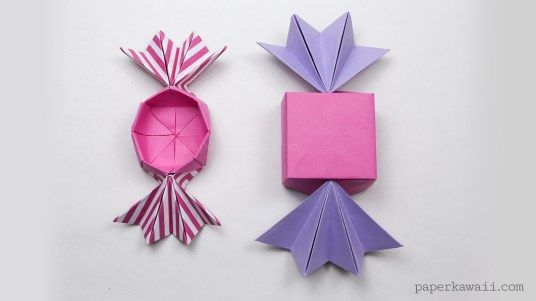 Round Origami Candy Box Instructions Candy Boxes Origami And Rounding