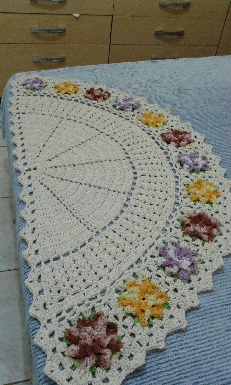 Tapete Decorado Tapete De Croche Passadeira De Croche Tapetes