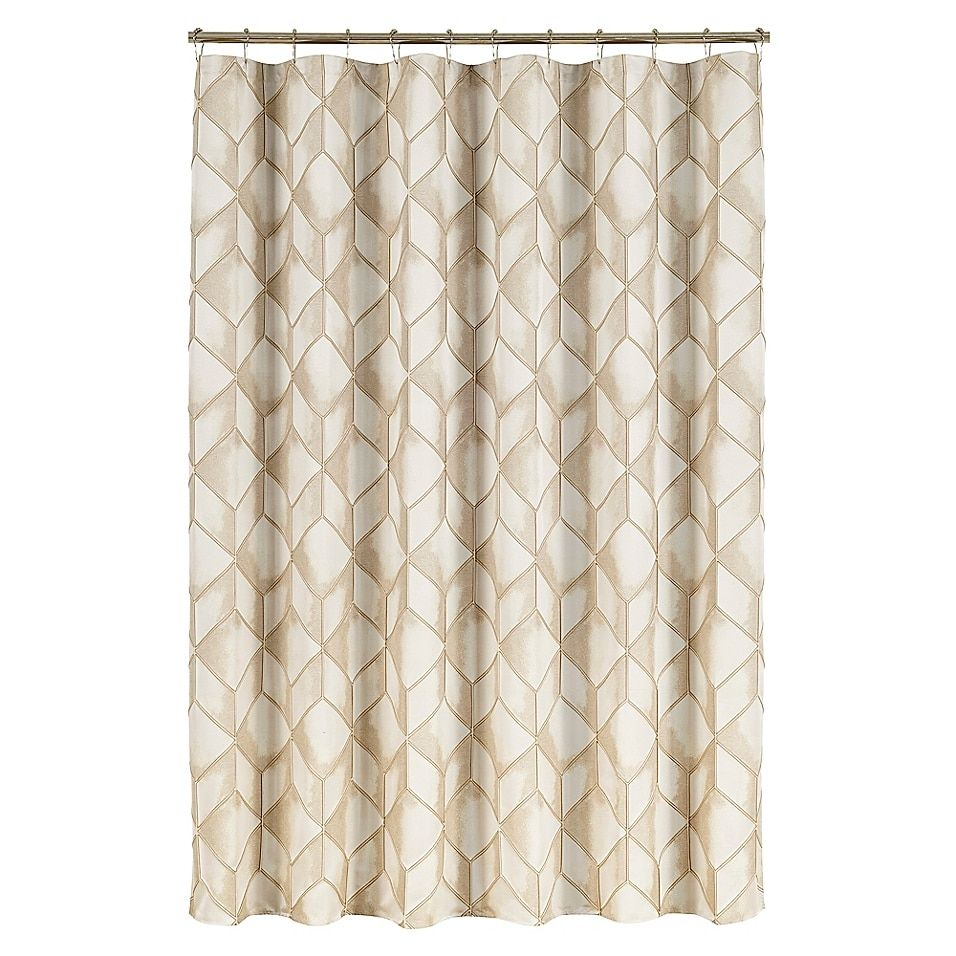 J Queen New York Horizons Shower Curtain In Ivory Bed Bath Beyond In 2021 Curtains Queens New York Bed Bath And Beyond