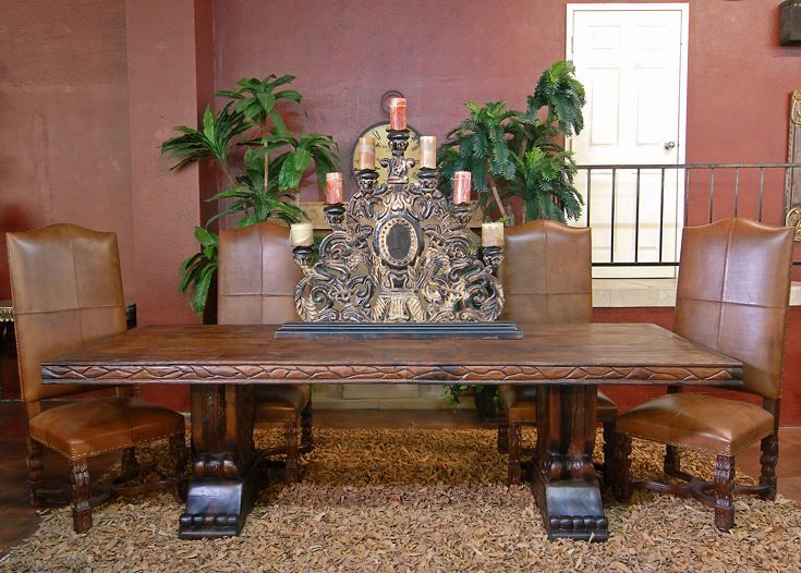 master mesquite dining table | custom wood dining creations