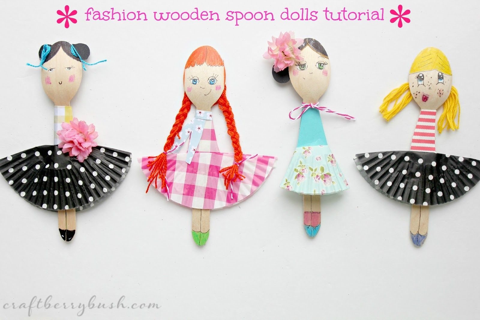 Wooden Spoon Paper Dolls So Cute Cool Stuff For Kids Wooden