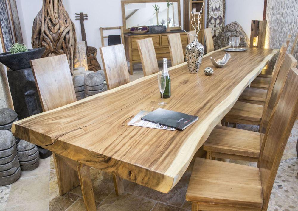 Esstisch  Tischplatte Konferenztisch Massivholz Tisch