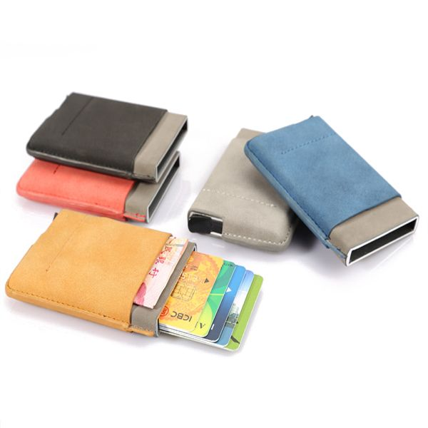 Automatic rfid business card holder credit card case portable name automatic rfid business card holder credit card case portable name cards short wallets worldwide delivery original best quality product for 70 o colourmoves
