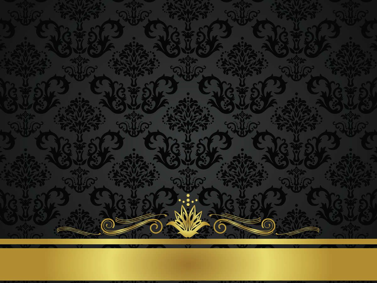 Black Wall Paper Decor : Gold and black background design hd christmas has come