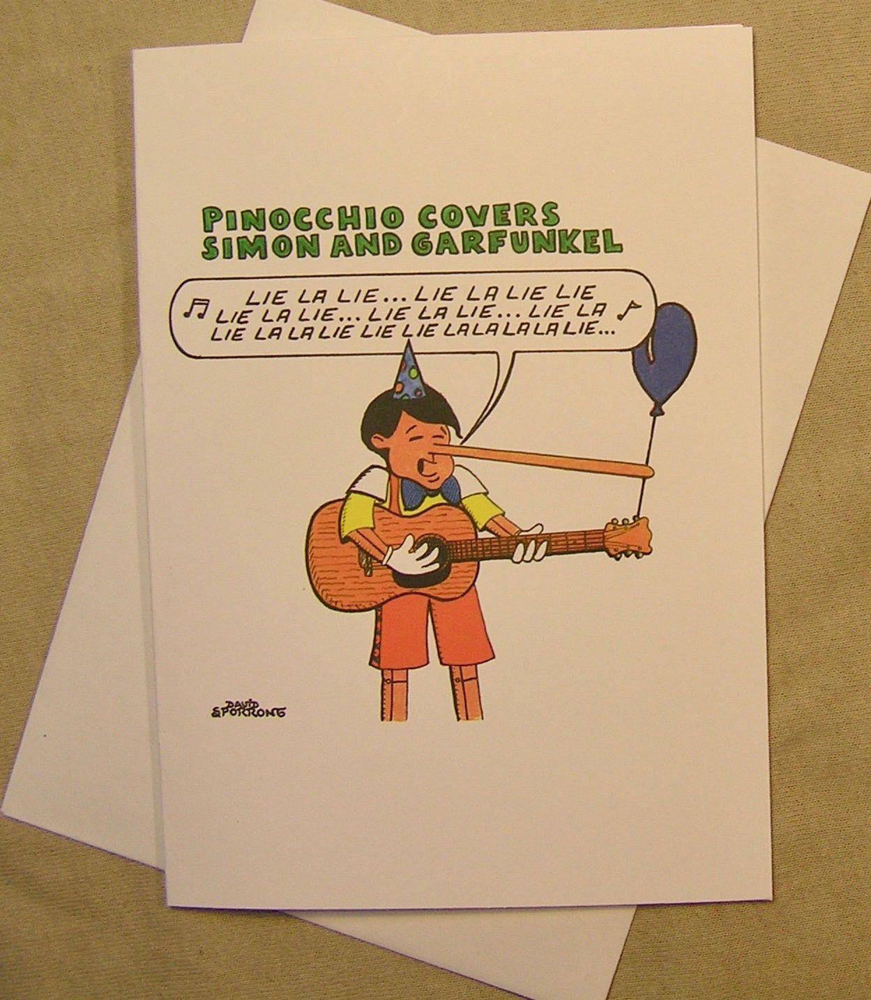pinocchio birthday card pinocchio covers simon garfunkel
