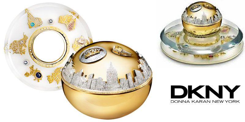 Afbeeldingsresultaat voor DKNY Golden Delicious Million Dollar Fragrance Bottle