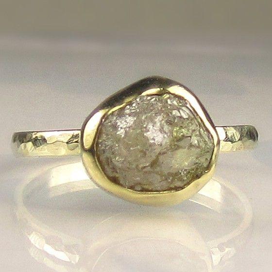 Lindo Pedras Anel Queromuito Diamante Bruto Ideias De Joias