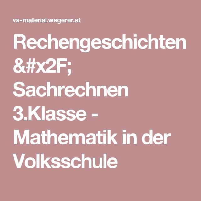 rechengeschichten sachrechnen 3klasse mathematik in