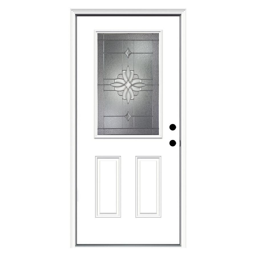 Shop Reliabilt 36 In Decorative Inswing Fiberglass Entry Door At Lowes Com Entry Doors Reliabilt Glass Decor
