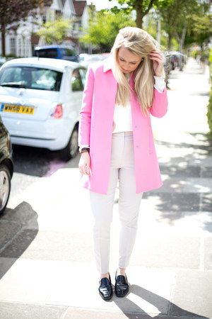 pink coat Zara jacket | Fashion | Pinterest | Pink coats, Zara ...