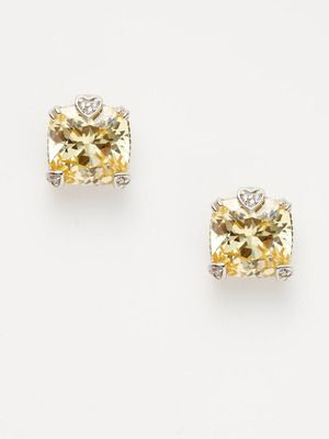 Fab neutral accent!    Fontaine Canary Stud Earrings  by Judith Ripka