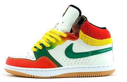 40ea0600458a3 Nike Womens Rasta Court Force. Not a high top sneaker girl but I would wear  these.