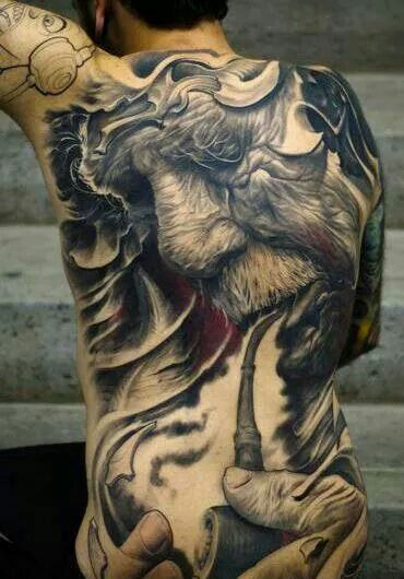 77dcf2dd9 I do not understand why you would get this tattooed but wow thats insane  artwork by Victor Portugal