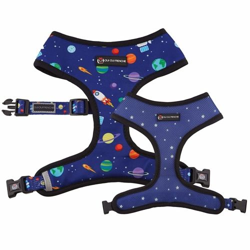 Reversible Dog Harness – Your dog will look and feel out of this world in our playful space harness!  🚀