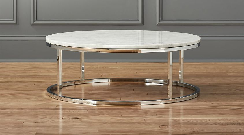 round marble top coffee table sets