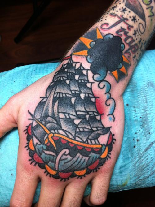 job stopper hand tattoo