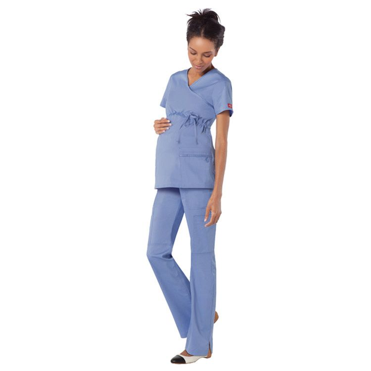 2eddf2339d6 These low-rise #maternity scrub pants from #Dickies GenFlex have a junior  fit and straight legs with knee seams.   allheart.com #scrubs