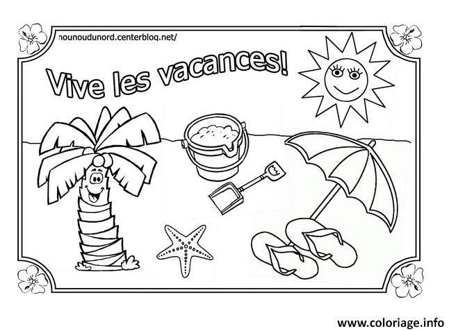 Coloriage Vacances Ete Vive Les Vacances Ete Dessin A Imprimer