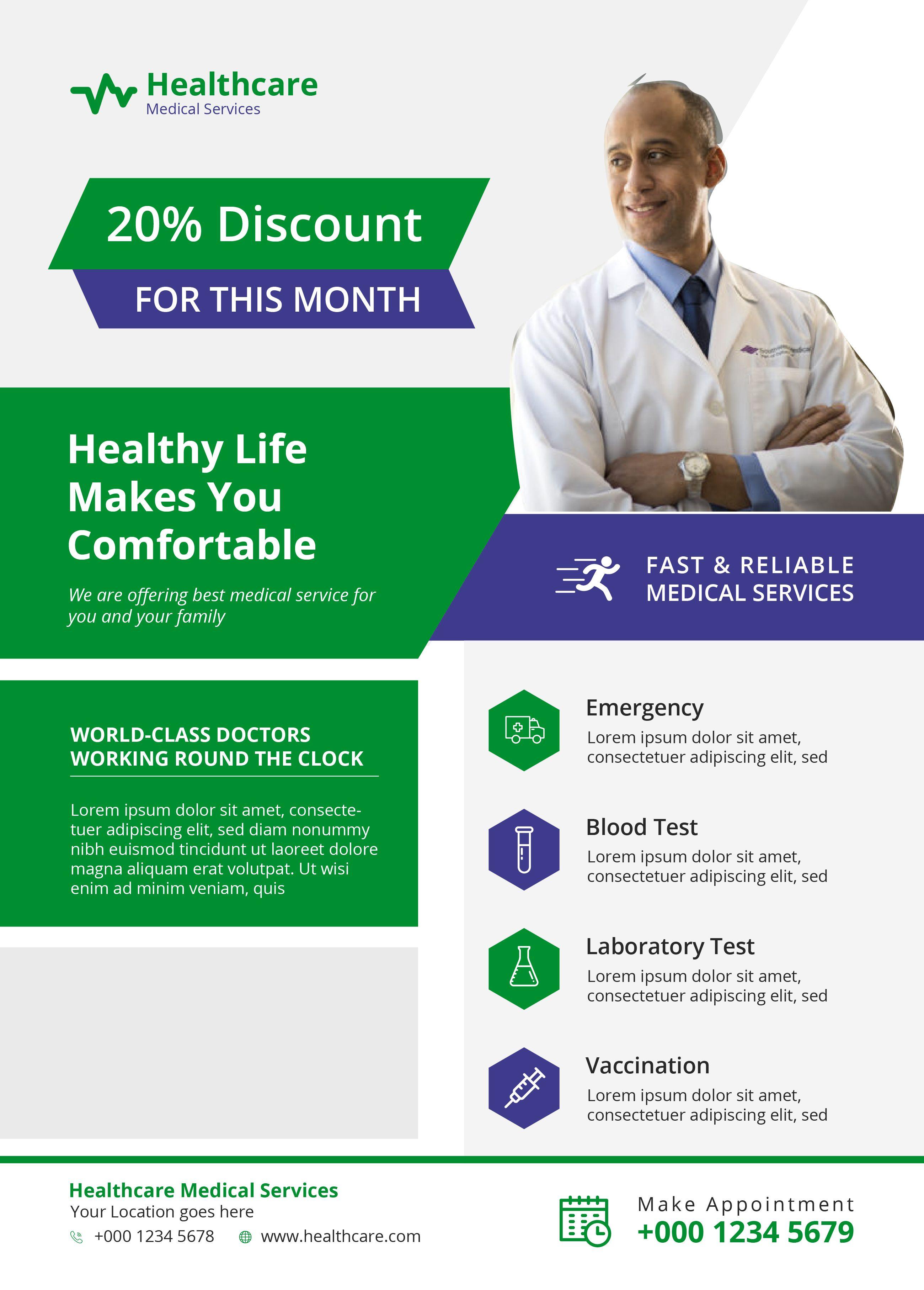Medical Flyer Social Media Design Graphics Flyer Flyer Design