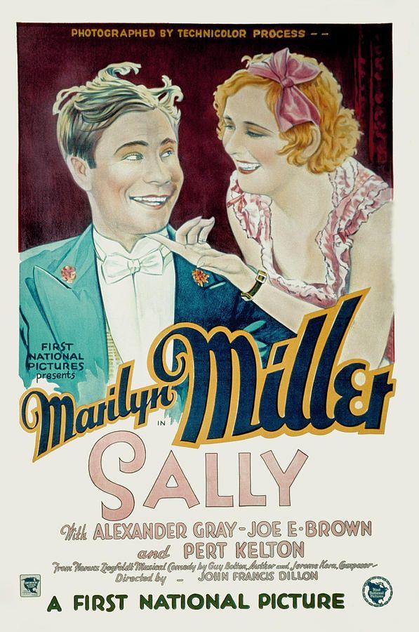 marilyn miller movie poster   ... Marilyn Miller Photograph - Sally, Joe E. Brown, Marilyn Miller Fine