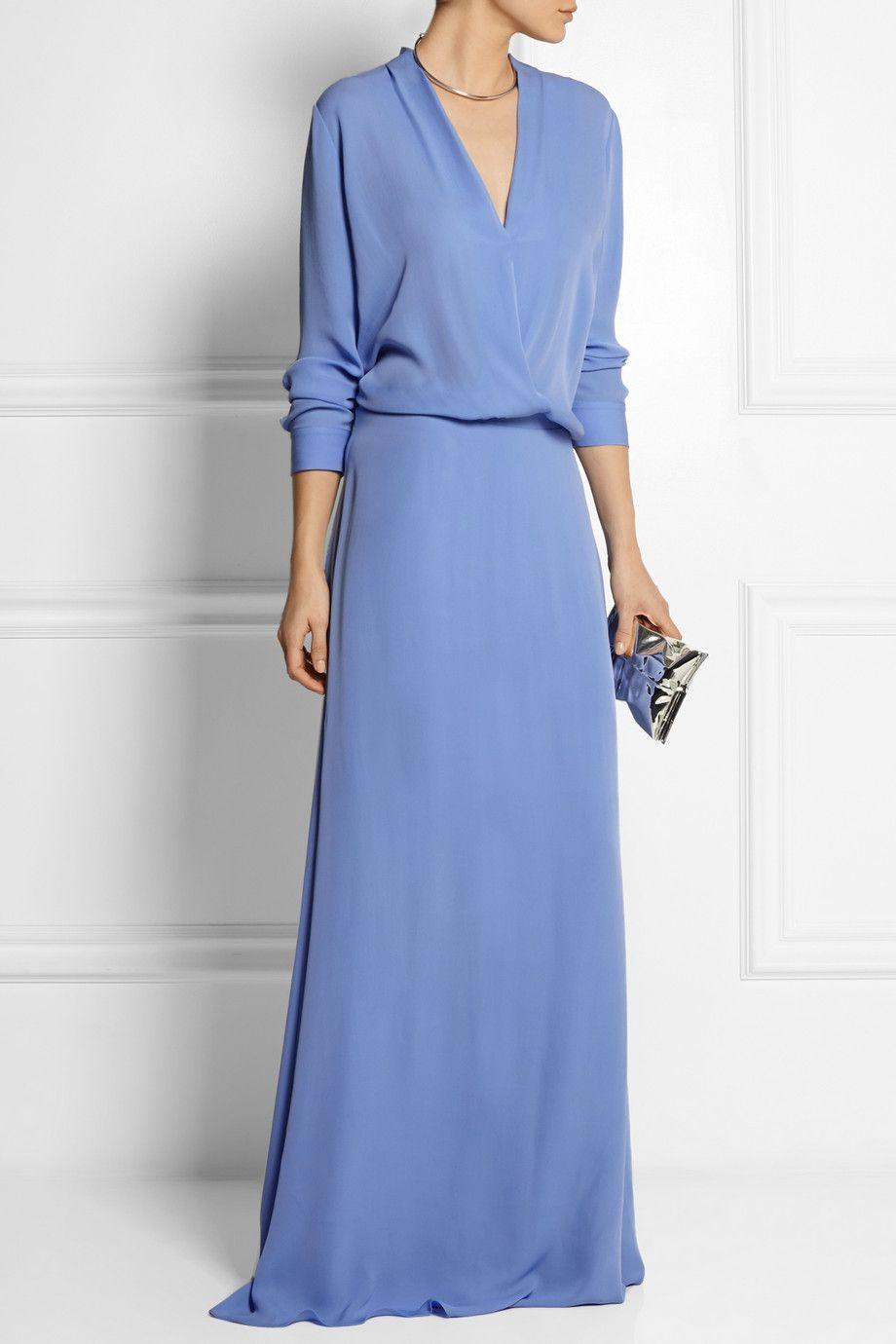 Mason by michelle mason wrapeffect silkgeorgette gown neta