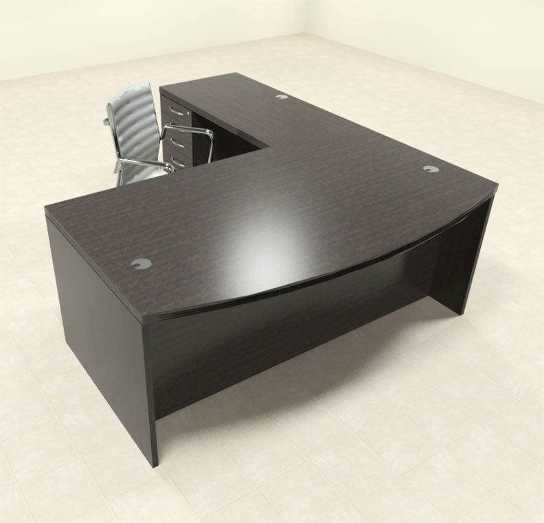 Color4office 3pc Modern Contemporary L Shaped Executive Office