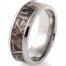mens realtree titanium max 4 wedding band camouflage wedding ringscamo - Camo Wedding Rings For Men