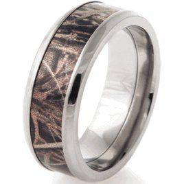 Men\'s Realtree® Titanium MAX-4 Wedding Band | Camo wedding rings ...