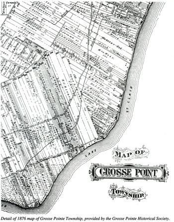 Grosse Point Michigan Map.Early Map Of Grosse Pointe Michigan Grosse Pointe Grosse Pointe