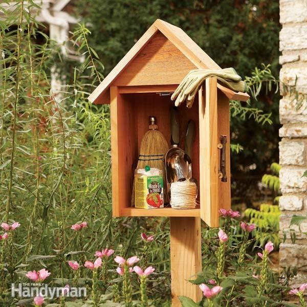 Build A Garden Storage Box Small Garden Tools