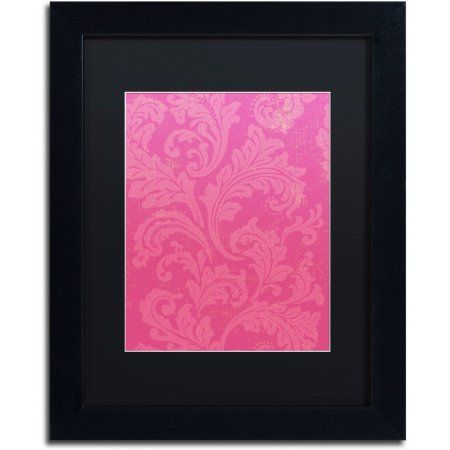 Trademark Fine Art Petals of Paris Viii Canvas Art by Color Bakery Black Matte, Black Frame, Size: 16 x 20, Pink