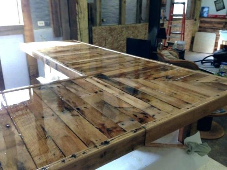 Permalink To Ideas For Bar Tops Wood Bar Top Resin Countertops Pallet Kitchen