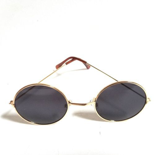 df35389b5 John-Lennon-Sunglasses-Round-Shades-Gold-Frame-Black-Lenses ...