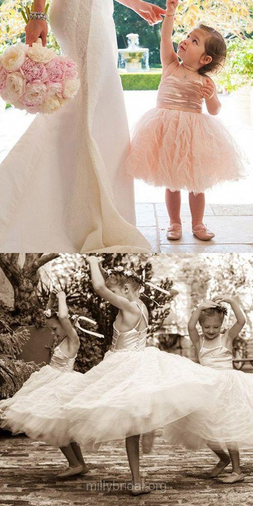 Cute Flower Girl Dresses A-line, Tulle Flower Girl Dresses Square Neckline, Country Flower Girl Dresses Tulle Tea-length