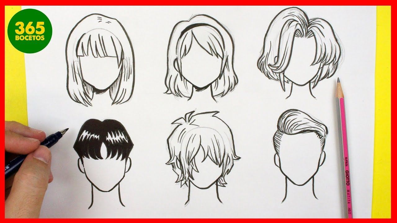 Como Dibujar Cabello Anime Como Dibujar Pelo Manga Como Dibujar Anim Dibujar Pelo Dibujar Cabello Como Dibujar Anime Facil