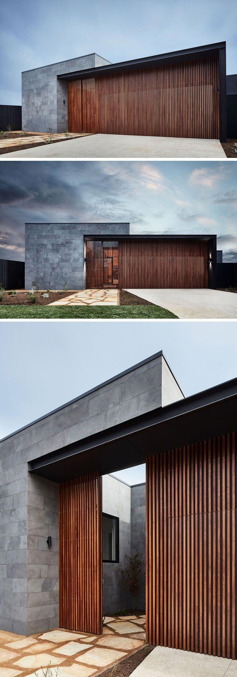 Modern House Exterior Design Front Door Ideas Wood Facade Wooden Garage Door: Auhaus Architecture / Barwon Heads Australia #moderninteriordoors