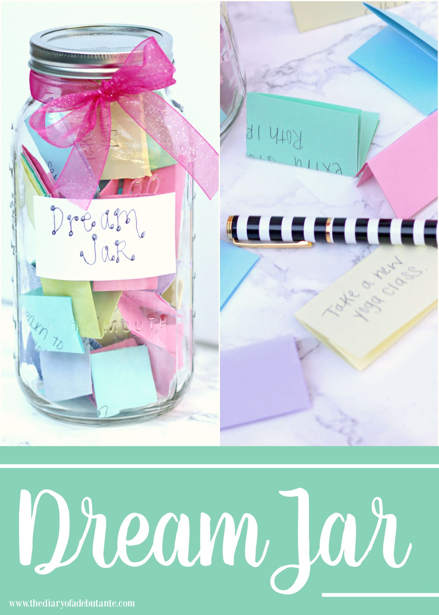 It S The Little Things Create Your Own Dream Jar Diary Of A Debutante Dream Jar Gratitude Jar Jar Crafts