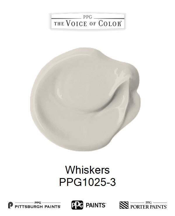 whiskers paint colorWhiskers is a part of the Whites collection by PPG Voice of Color